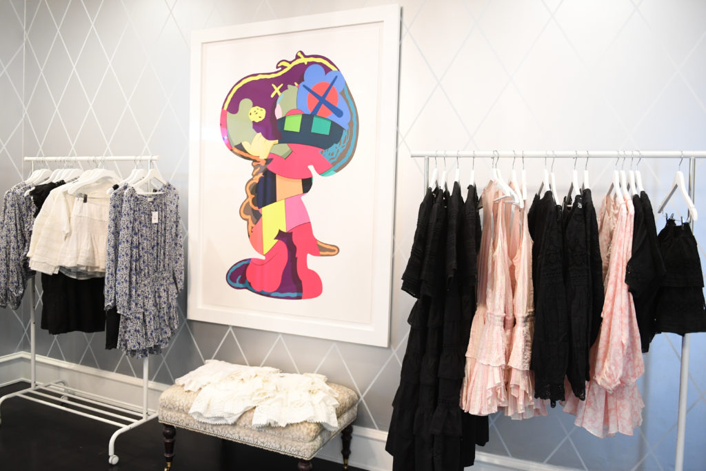 kaws, loveshackfancy, bohemian, dresses, cottons sold at in2, intwo, in2shop by Alexandra Bruskoff and Natasha Parvizian Gorgue