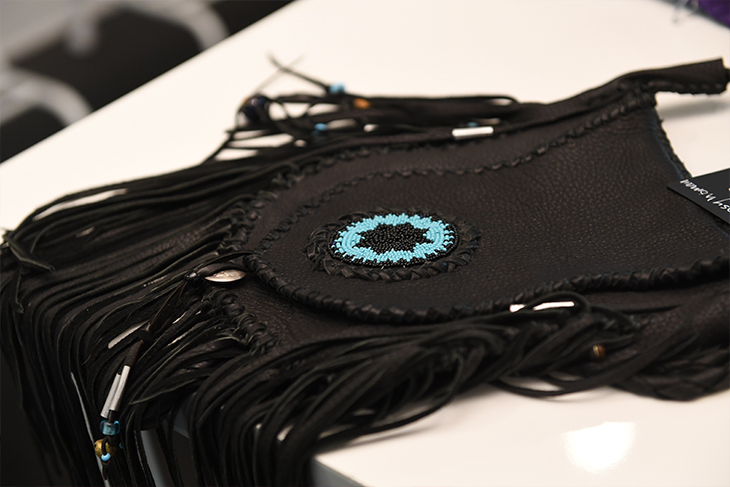 Custom handmade fringe leather and beaded bags by Chester for Gypsy women in Aspen Colorado