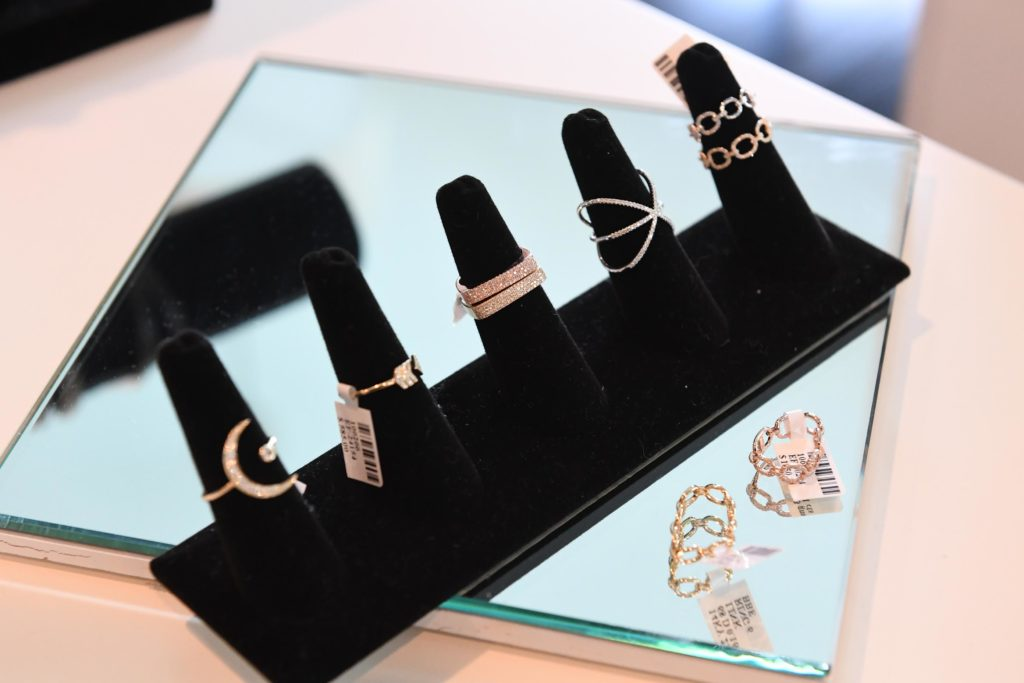 ef collection, diamond pave' rings, bracelets, monogramming